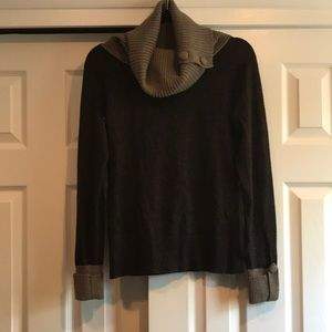 Brown two toned banana republic cowl neck sweater